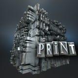 Print block Stock Photos