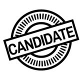Print candidate stamp on white vector illustration