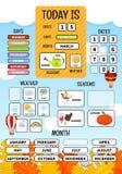 Children`s educational game stock illustration