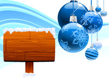 Print and christmas ball background Royalty Free Stock Photo