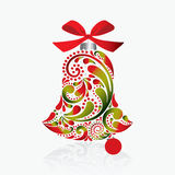 Print. Christmas bell. Royalty Free Stock Image