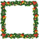 Print Christmas garland frame Stock Photography
