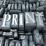 Print close-up Stock Photography