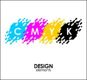 Print CMYK halftone dots design abstract elements. Print CMYK halftone dots design abstract Royalty Free Stock Photography