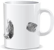 Print on Coffee cup. Print on Coffee cup illustration made in adobe illustrator Royalty Free Stock Photography