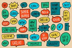 Collection of colorful speech bubbles vector vector illustration
