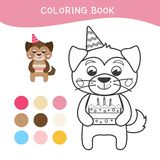 Kids coloring book vector illustration