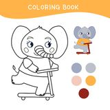 Kids coloring book stock illustration