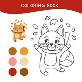 Kids coloring book royalty free illustration
