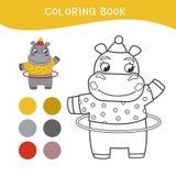 Kids coloring book stock illustration