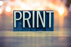Print Concept Metal Letterpress Type Royalty Free Stock Photo