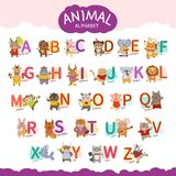 Vector animal alphabet vector illustration