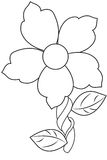 Print. A cute, flower coloring page for children to color in Royalty Free Stock Images