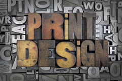 Print Design Stock Image