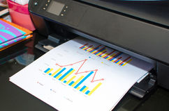 Print a document. On the table in office Royalty Free Stock Image