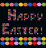 Print with eggs for Easter greeting Stock Images