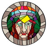 Stained glass portrait Stock Photos