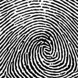 Print finger fingerprint vector crime identity thumb thum Stock Image