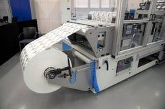 Print finishing equipment for label Stock Photos