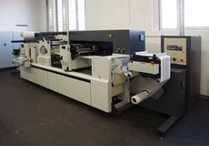 Print finishing equipment for labels Stock Photography