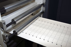 Print finishing equipment for labels Stock Image