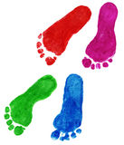 Print of foots of the child Stock Image