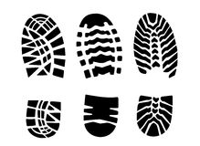 Print footwear trace Royalty Free Stock Photography