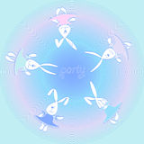 Print 5 funny hares dancers Royalty Free Stock Photography