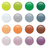Print Gradient pastel web buttons set Stock Images