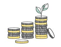 Growth of financial investment concept illustration vector illustration