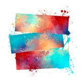 Print in grunge. Image of palm print in grunge style watercolor stock illustration