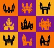 Print Halloween silhouettes Royalty Free Stock Image