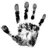 Print of hand. Of child, cute skin texture pattern,vector grunge illustration Royalty Free Stock Photography