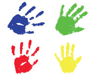 Print hand. Illustration with a colorful print hand Stock Image