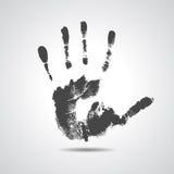 Print of hand of man, cute skin texture pattern. Grunge illustration Royalty Free Stock Photos