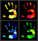 Print of hands3 Royalty Free Stock Photo