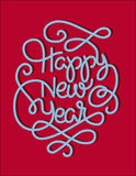 Print. Happy New Year Candy Lettering Royalty Free Stock Photos