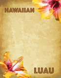 Print Hawaiian luau party invitation cards Stock Images