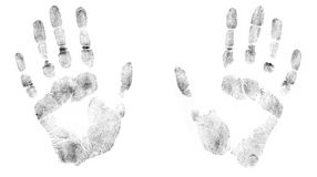 Print of human hands Royalty Free Stock Photo