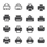 Print icon set Royalty Free Stock Image