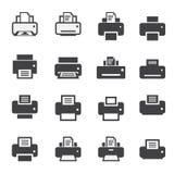 Print icon set Royalty Free Stock Image