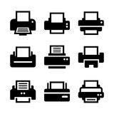 Print  Icon Set Stock Image