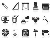 Print icons set Royalty Free Stock Photo