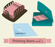 Print icons set2. Stock Image