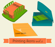 Print icons set2. Royalty Free Stock Images