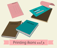 Print icons set3. Stock Image