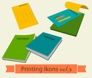 Print icons set3. Royalty Free Stock Photography