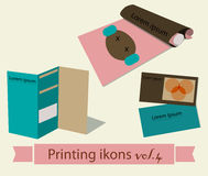 Print icons set4. Stock Photos