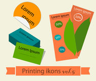 Print icons set5. Stock Photography