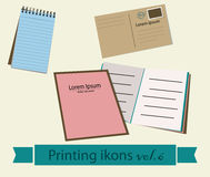 Print icons set6. Royalty Free Stock Images